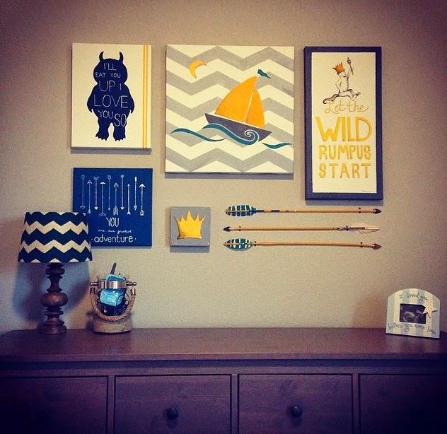 Art By Cherise Larue: {WHERE THE WILD THINGS ARE Themed Nursery Art ...