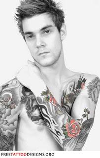 Tribal Rose Tattoos Designs