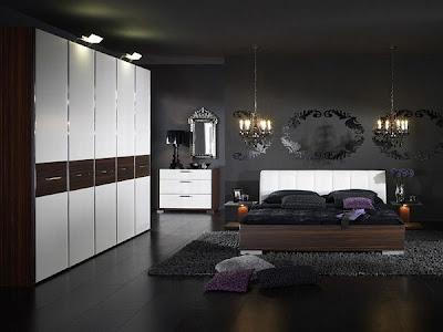 beyaz+ve+ahsap+geni%25C5%259F+yatak+odas%25C4%25B1+takimi Yatak Odası Takımlarında 2012 Rüzgarı