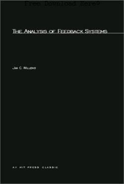 The Analysis of Feedback Systems