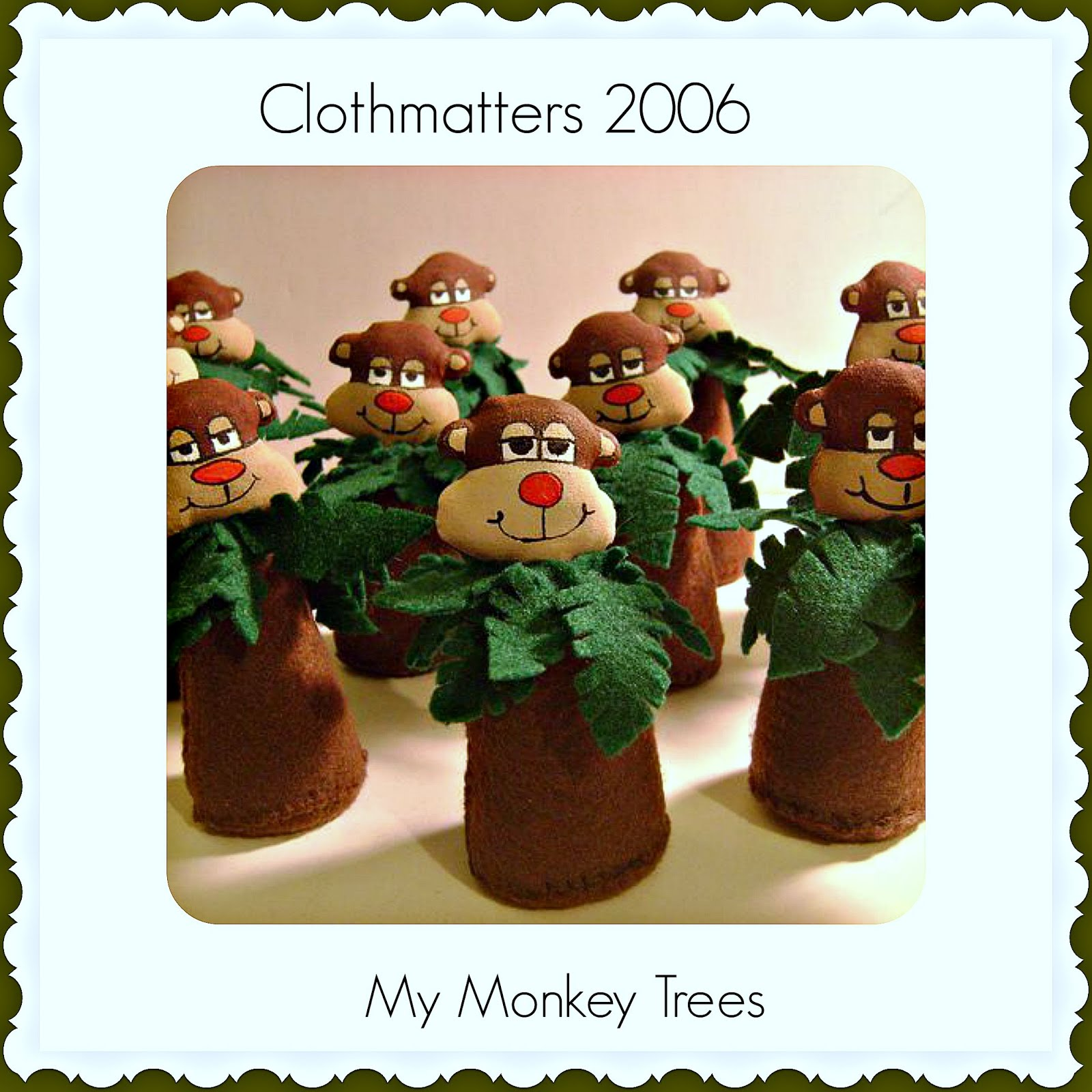 Monkey Tree Ornaments