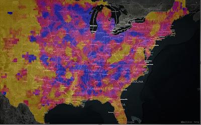 Visualized demographic US data