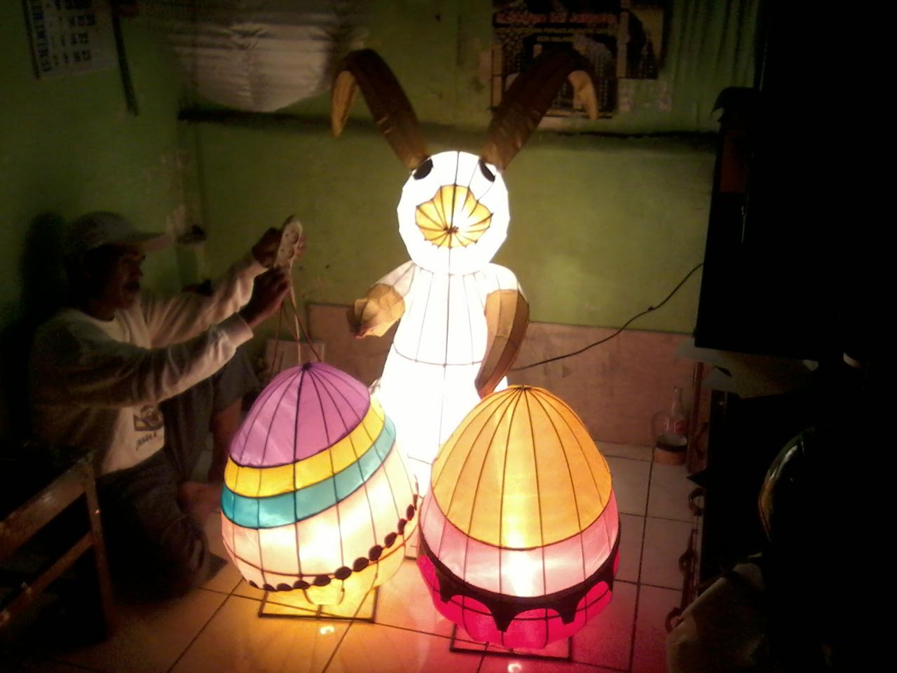 Jual LAMPION KELINCI PASKAH - LAMPION KARAKTER - LAMPION MURAH