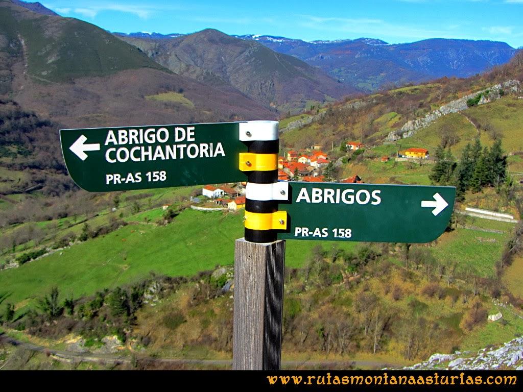Rutas Montaña Asturias de las Pinturas Rupestres de Fresnedo: Desvío abrigo Cochantoria