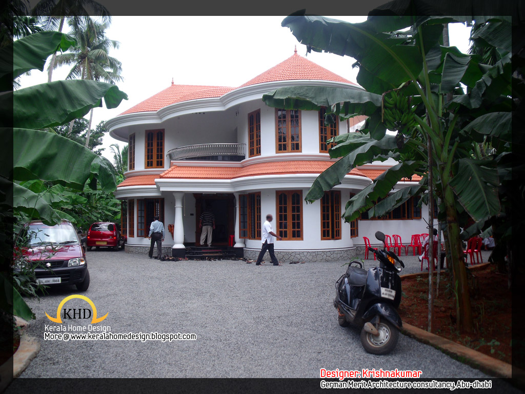 2761 Semi Circular Shaped Villa Kerala House