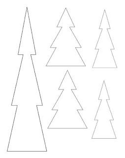 Maori Printables: Christmas Tree Templates