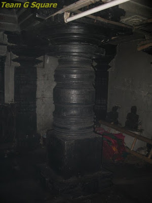 Pillar inside the Chennakeshava Temple in Bangalore