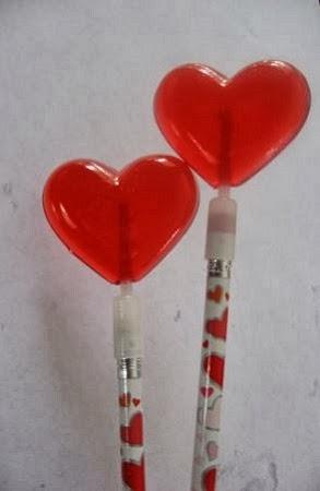 Lapiceros con Caramelos, Ideas para San Valentin