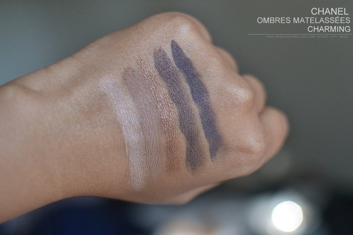 Chanel Ombres Matelassees Eyeshadow Palette - Charming - Nuit Infinie Holiday 2013 Makeup Collection - Photos Swatches Review FOTD