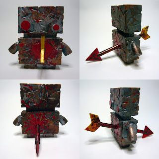 Zombie Valentine&#8217;s Day Jellybot Resin Figure by The Jelly Empire
