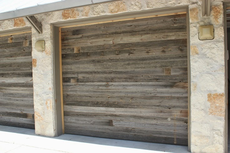 Reclaimed wood garage doors