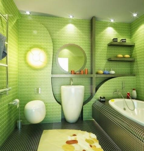 Decoracion Baños Verde Pistacho:Lindo baño decorado con cerámica en verde pistacho y esmeralda