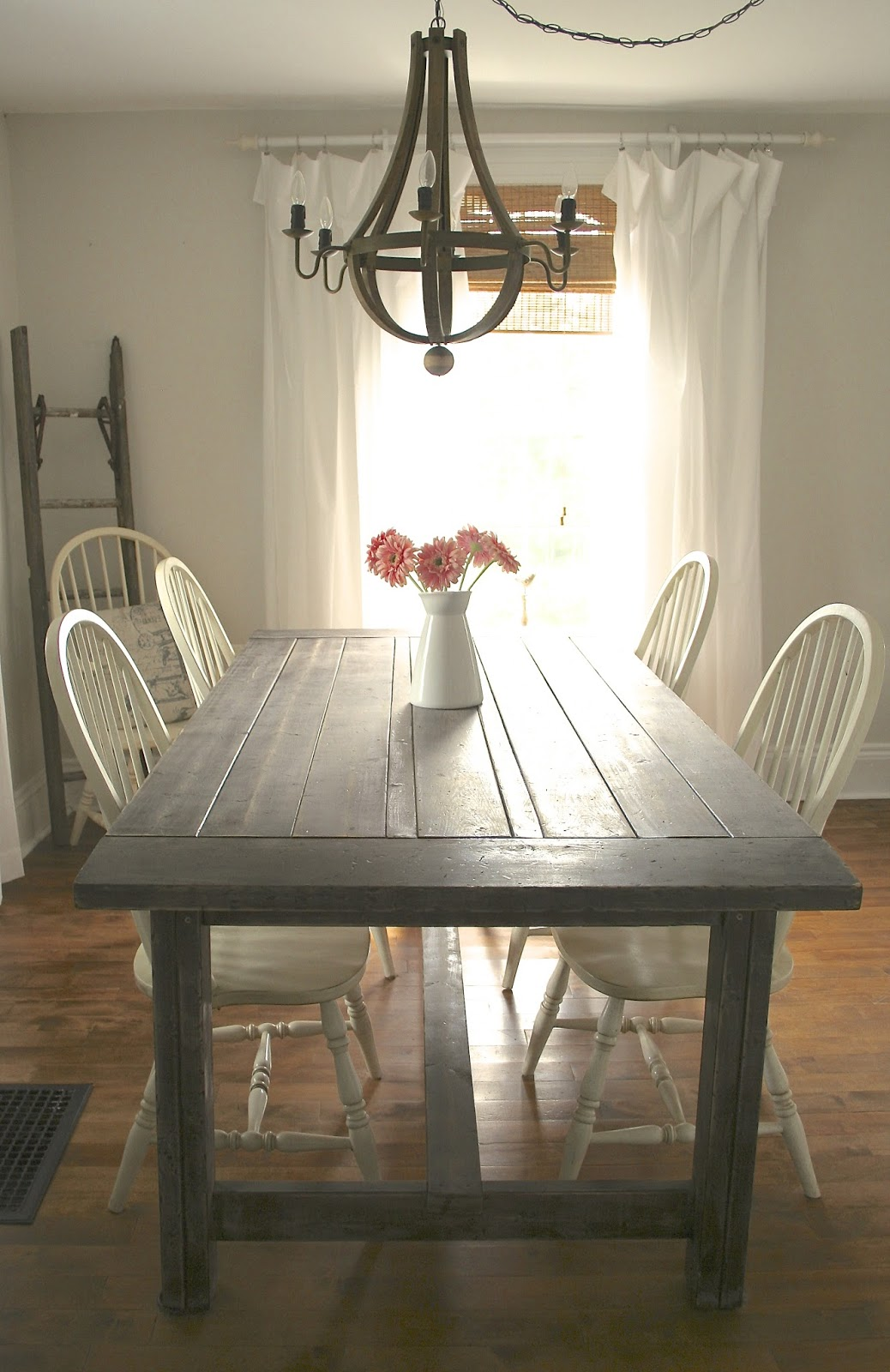 Diy dining table makeover - Diy Rustic Farmhouse Table Makeover Nest Of Bliss