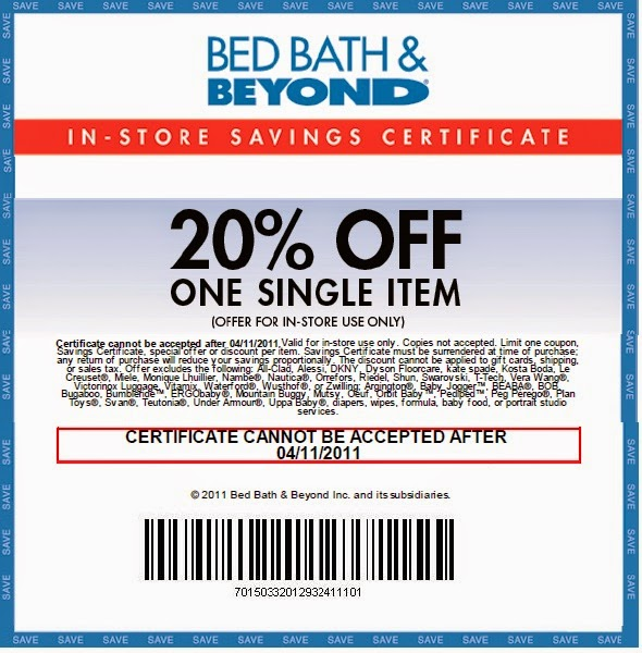 Bed Band And Beyond Paper Coupon