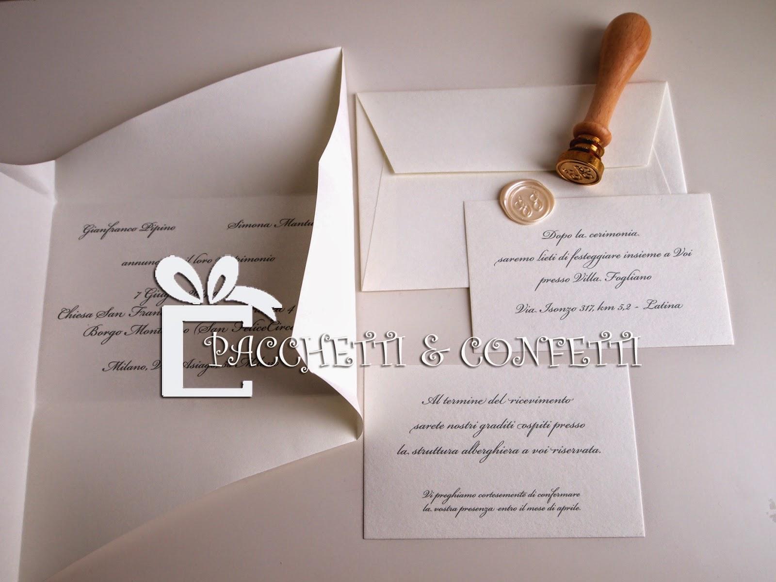 Exceptionnel Pacchetti e Confetti: Partecipazioni Matrimonio con sigillo ceralacca XT13