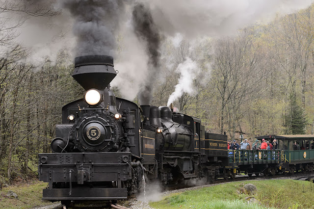 Shay #5 and Shay #6 At Cass Scenic Railway