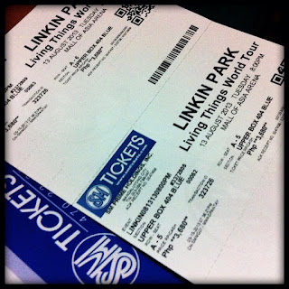 Living Things World Tour: Linkin Park Live in Manila Ticket, Upper Box