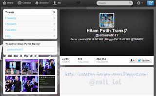 Akun Twitter Hitam Putih Trans7