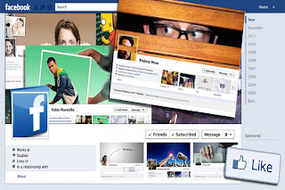 Tampilan facebook timelines