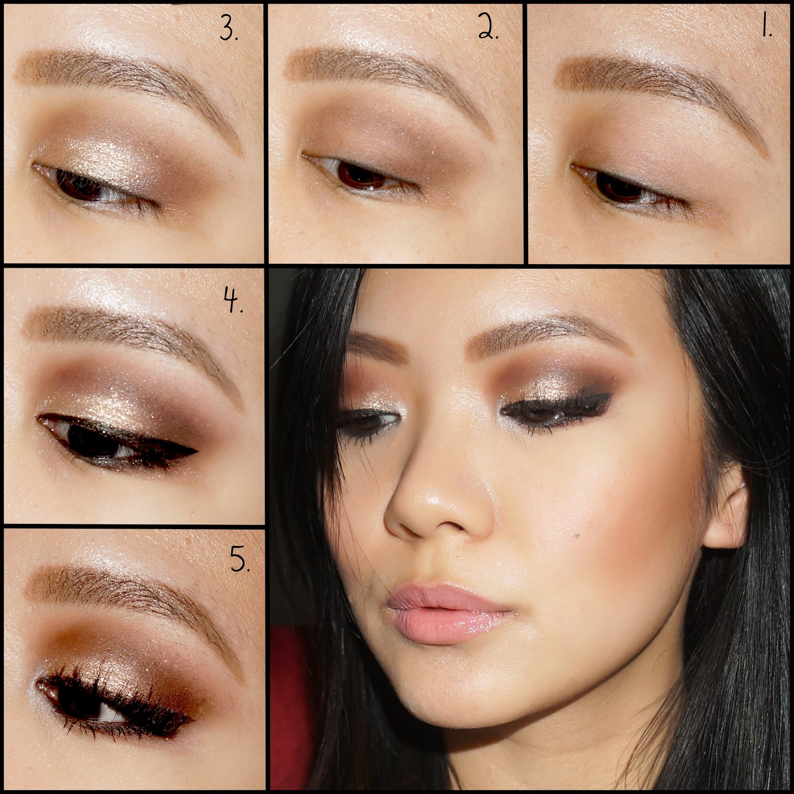 Makeup Tutorial Sparkly Gold New Years Eve Makeup Pictorial