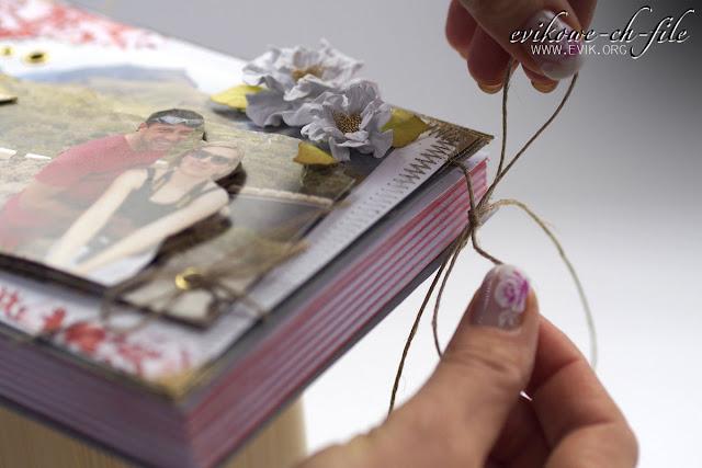 zrób sam kartke, jutowy sznurek, spellbinders rose creation, Evik, Ewa Jarlińska