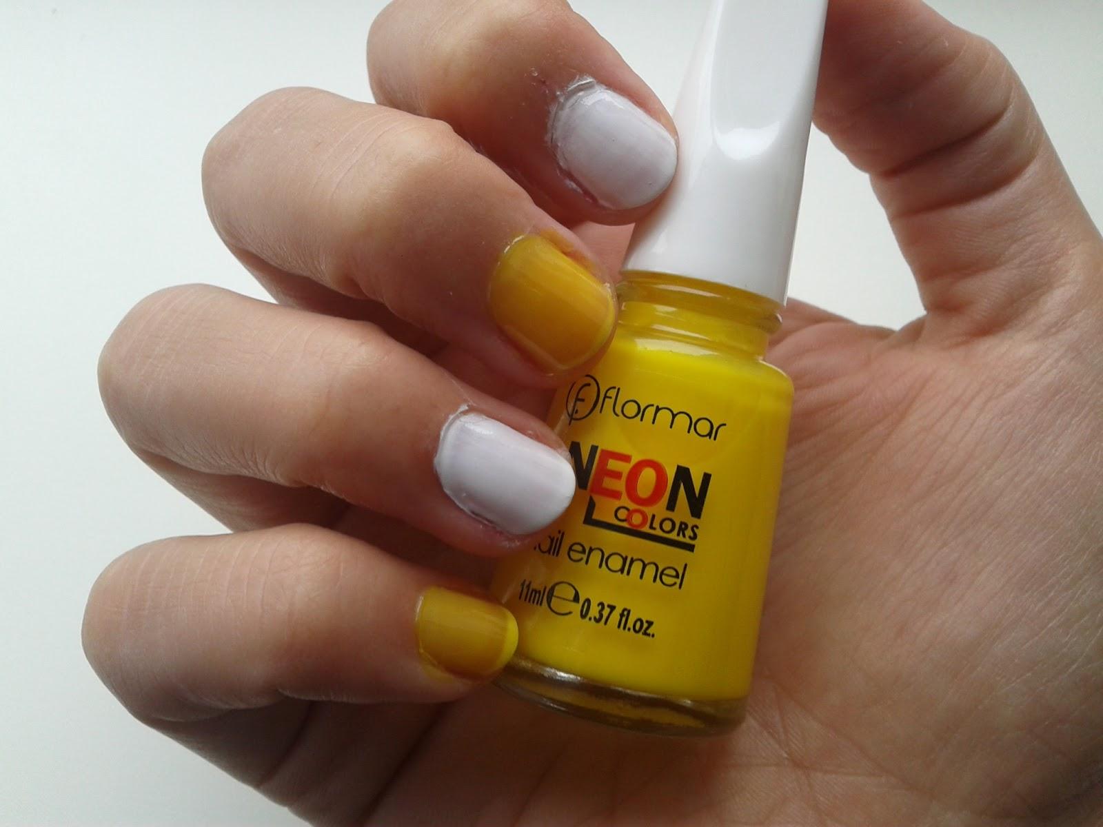 Somewhere I Belong: Flomar neon yellow nail polish