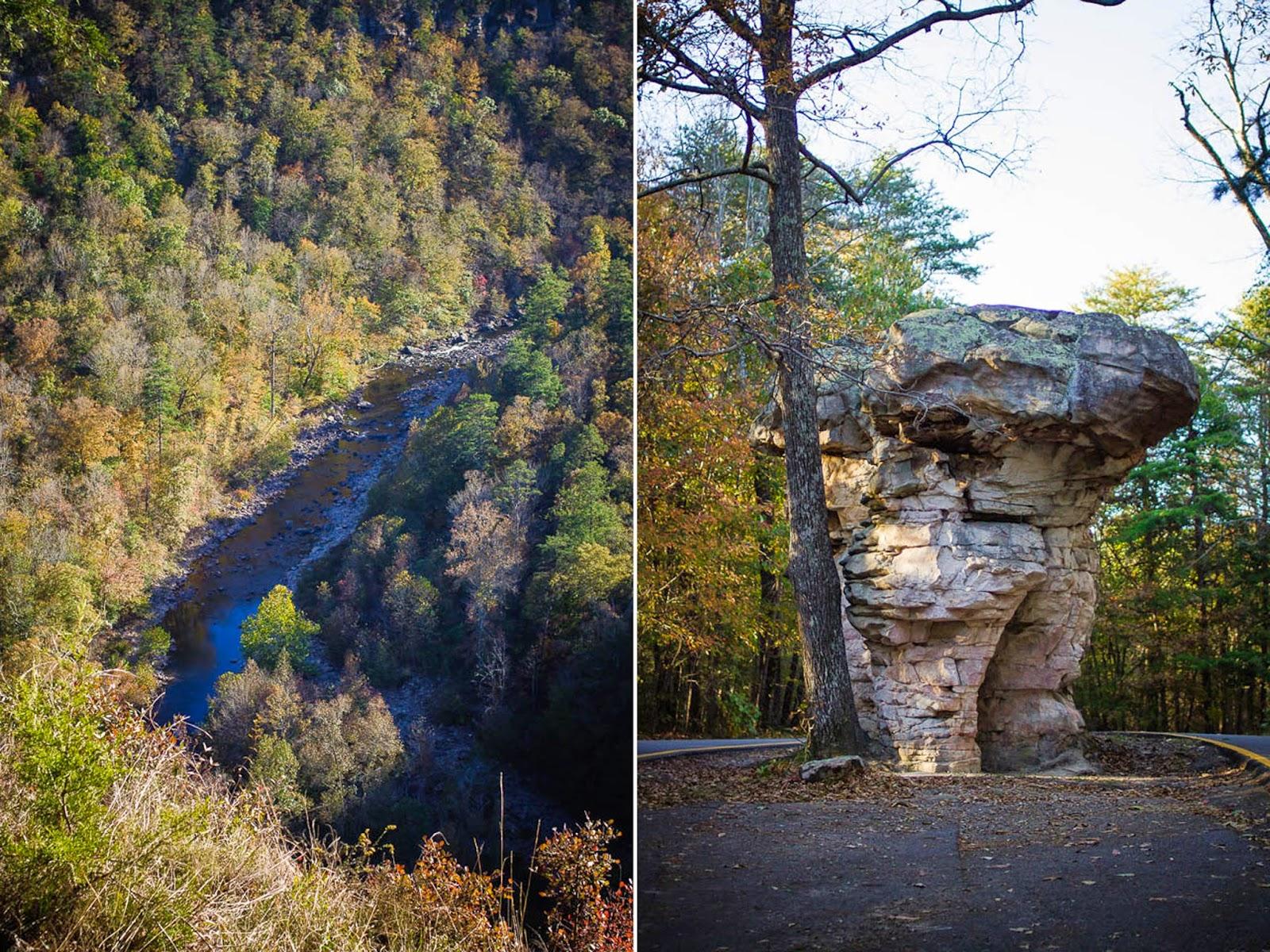Little River Canyon AL mushroom rock