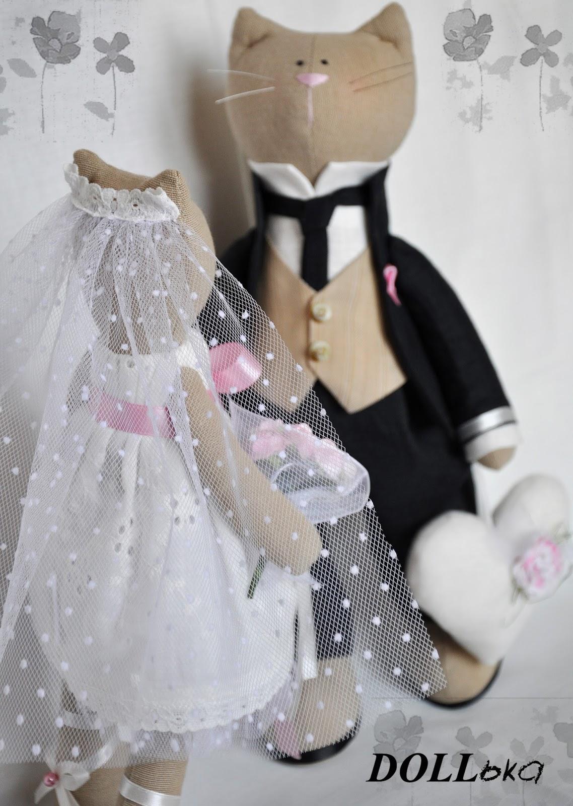 кошачья свадебная пара