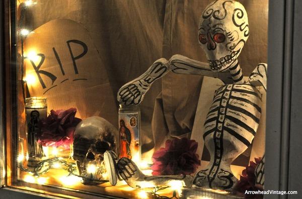 Dia De Los Muertos Display Calavera Skeleton Paper Mache Papeleria