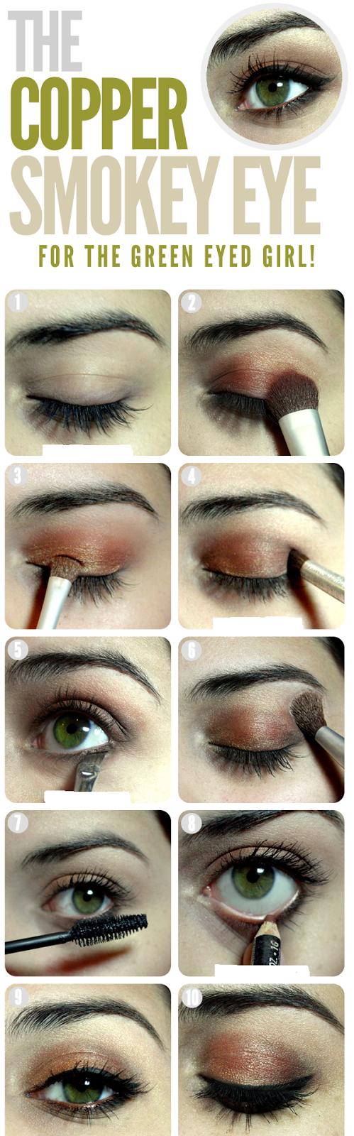 The Copper Smokey Eye for the Green Eyed Girl !
