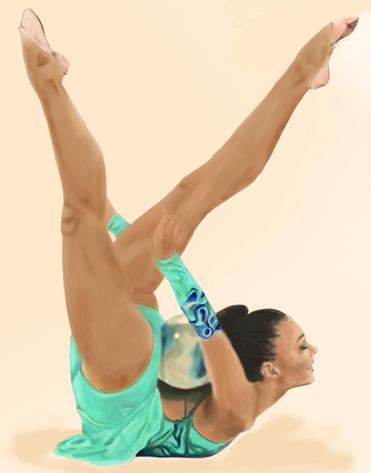 Голые женщины гимнастика 16