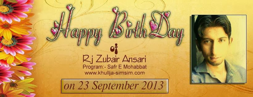Zubair Ansari Birthday