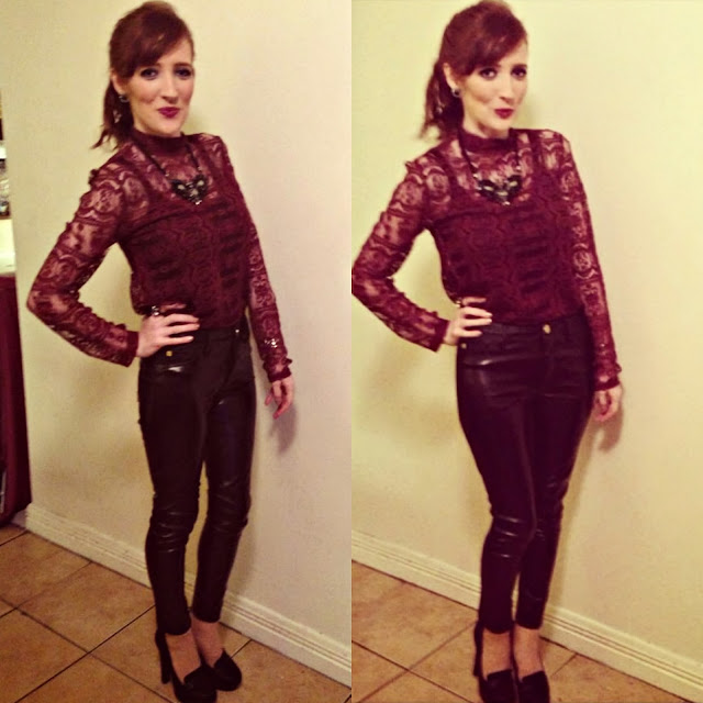 Outfit Post Leather Lace Party