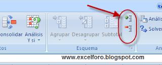 VBA: una macro en Excel para trabajar en una hoja protegida con el Esquema.