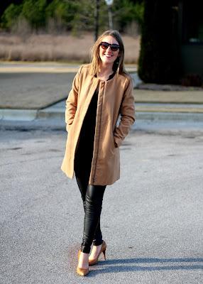 Stitch Fix January 2016 - Camel Collarless Wool Coat