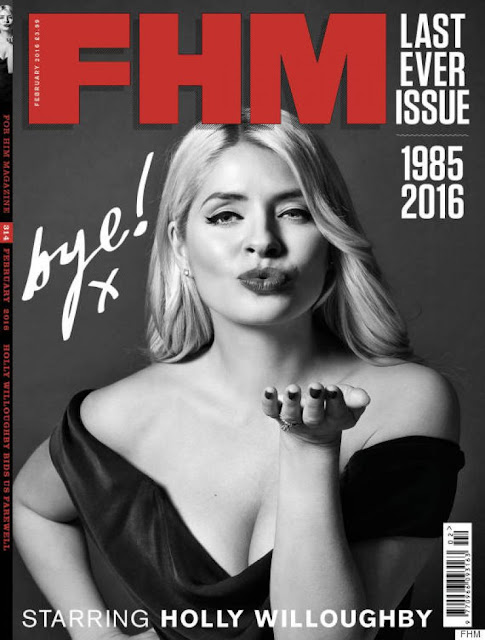 Television Presenter, Model, @ Holly Willoughby - FHM Magazine, February 2016