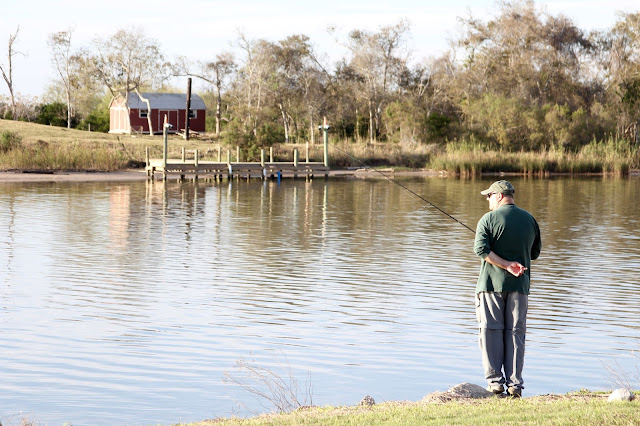 Waiting Patiently-Fishing From the Banks of the Colorado River-Pelican Point RV Park-Matagorda, Texas