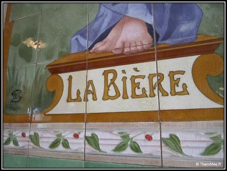 nouveau resto bistrot Poulette rue Etienne Marcel Paris mosaique art nouveau déco 1900
