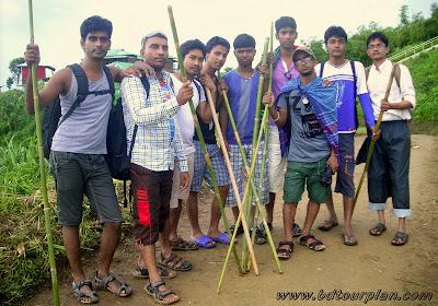 Trekkers in Bandarban