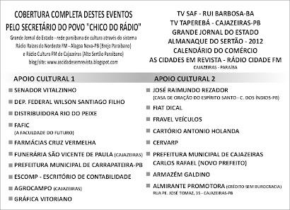 COLABORADORES DO NOSSO PROJETO CENTRASERT