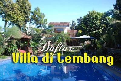 Daftar Villa di Lembang