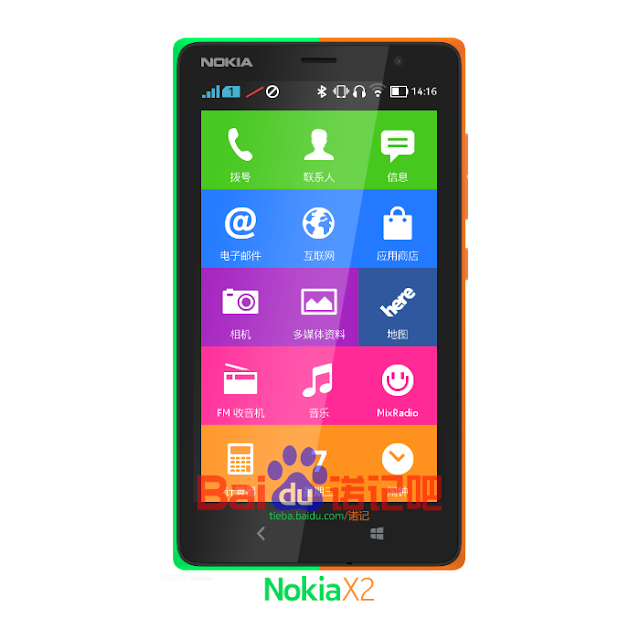 Nokia X2 mock-up