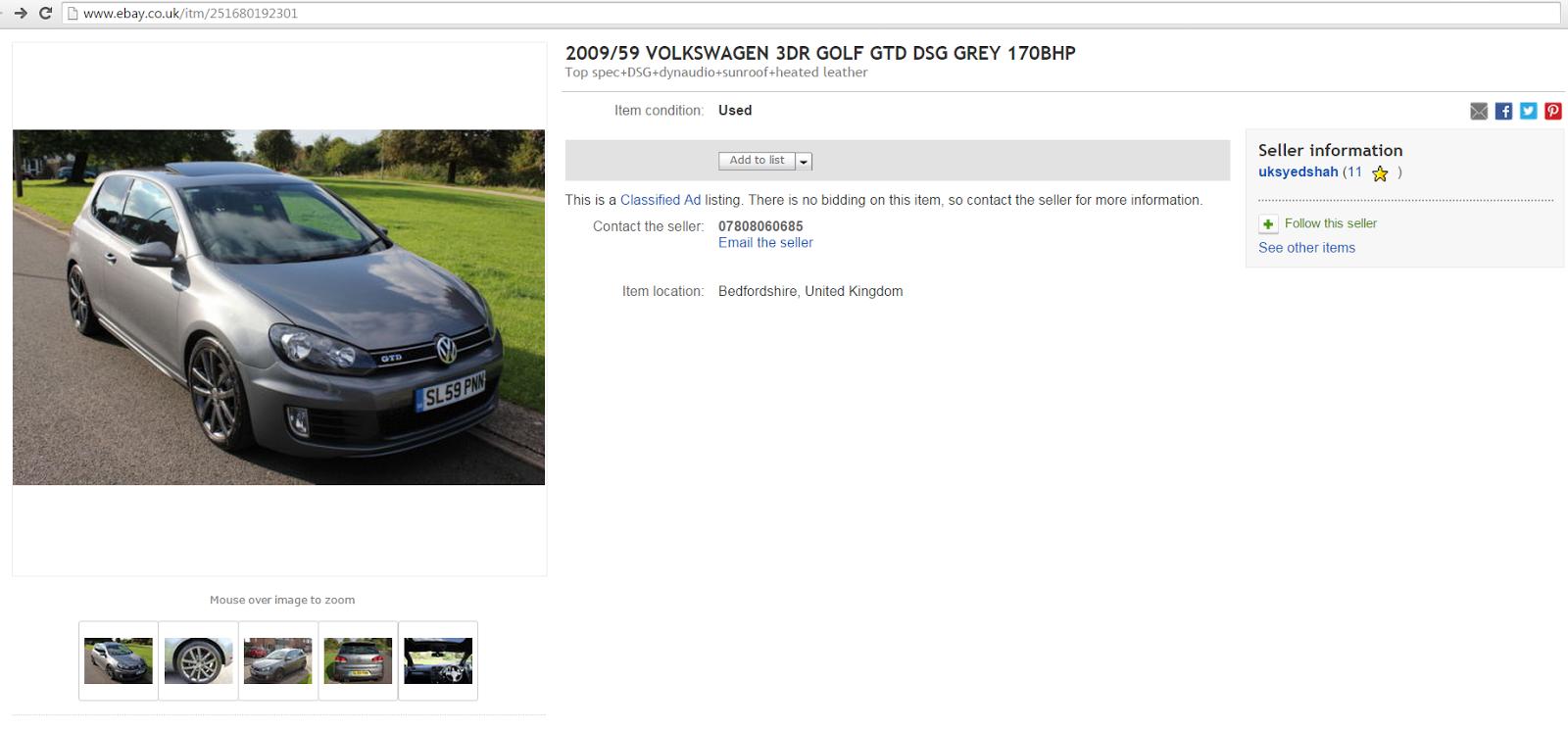 Original legitimate ebay listing october 2014