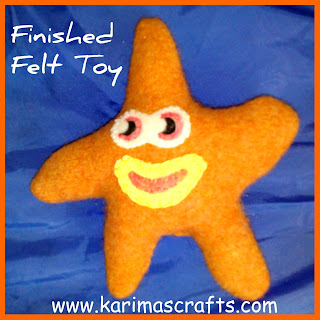 felt star tutorial
