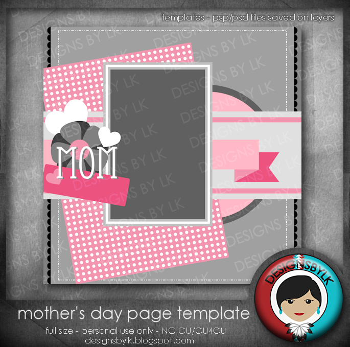 Freebie Mothers Day Flyer Template Design: Designs By LK: Freebie :: Mother's Day Page Template