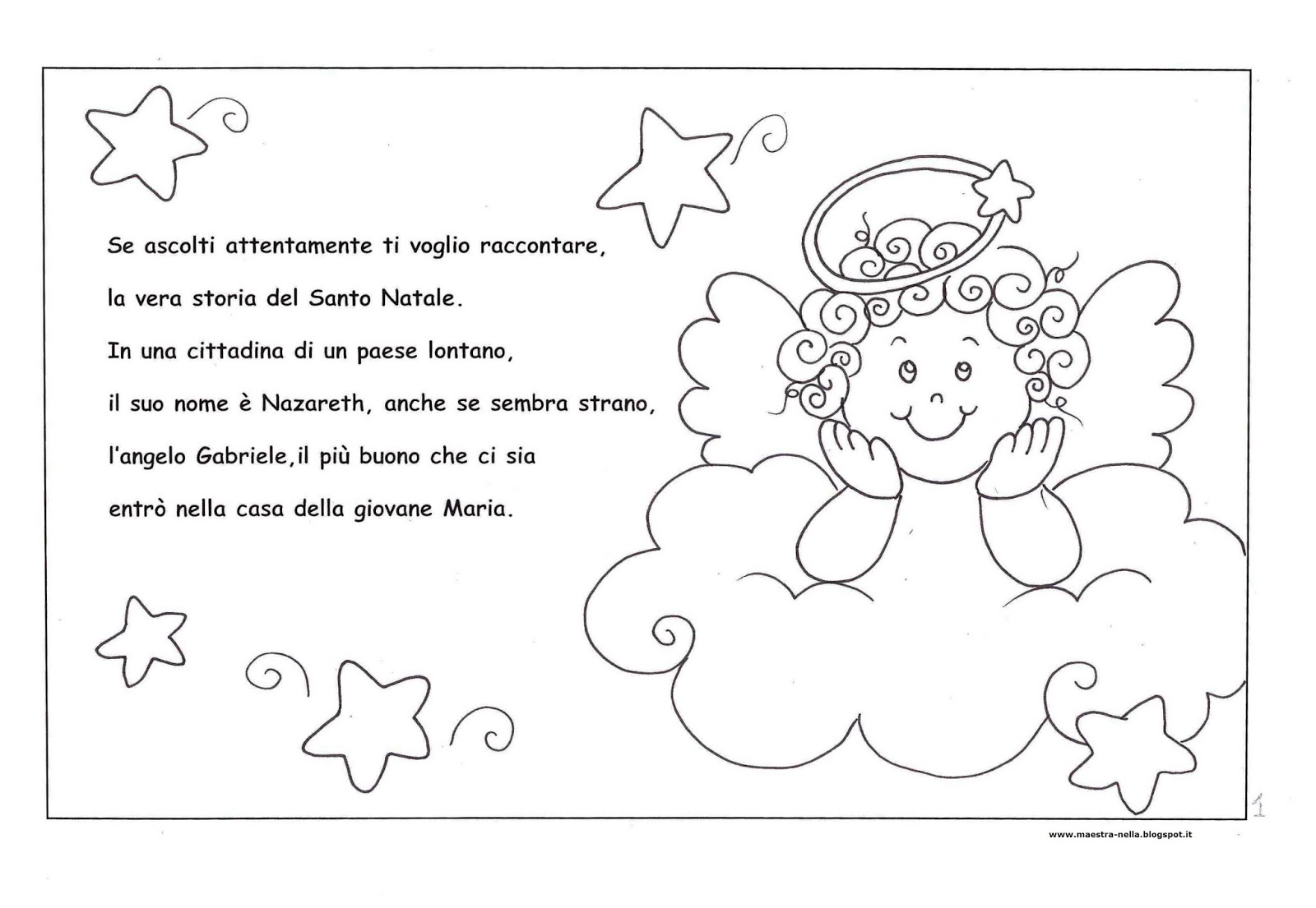 Maestra nella storia del santo natale for Schede didattiche natale scuola dell infanzia