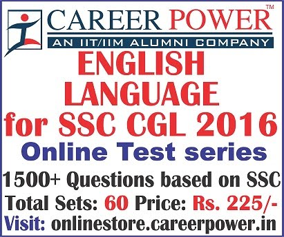 English Language for SSC CGL 2016