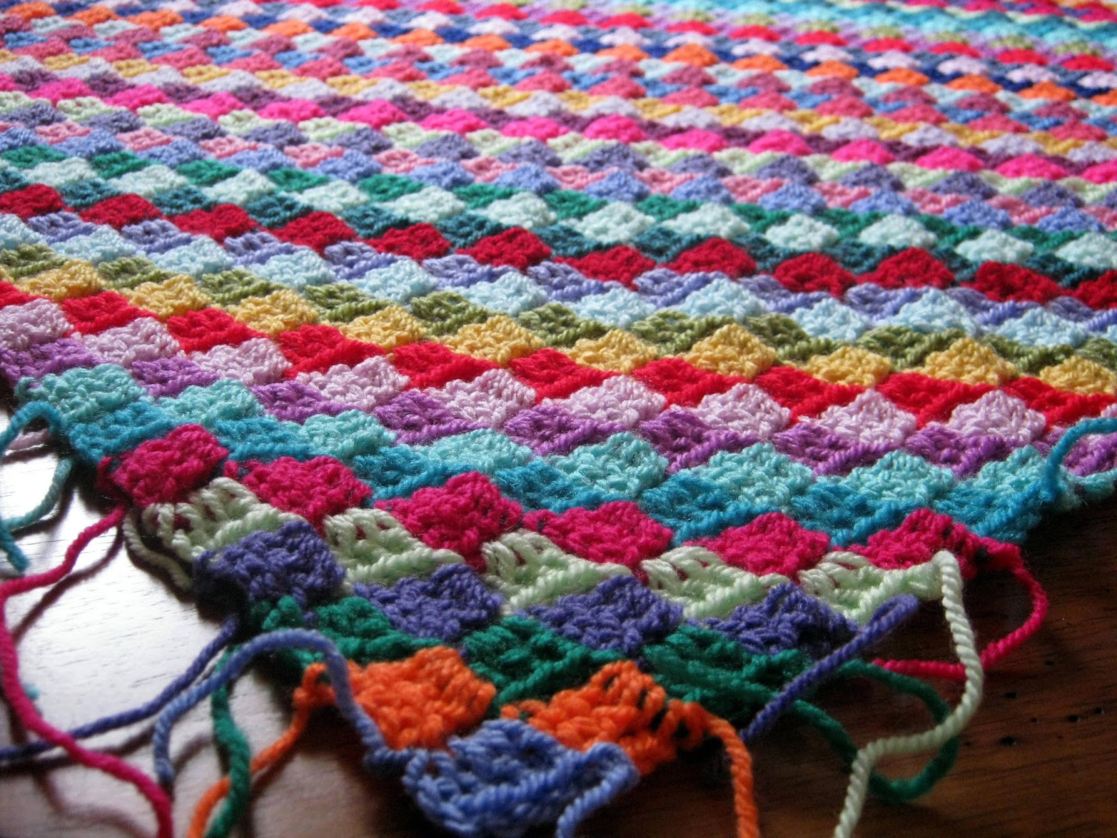 Mosaic Crochet Afghan Pattern : The Sunroom UK: Tiny Tiles Mosaic Crochet Blanket