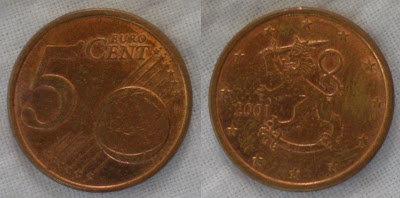 finland 5 cent 2001