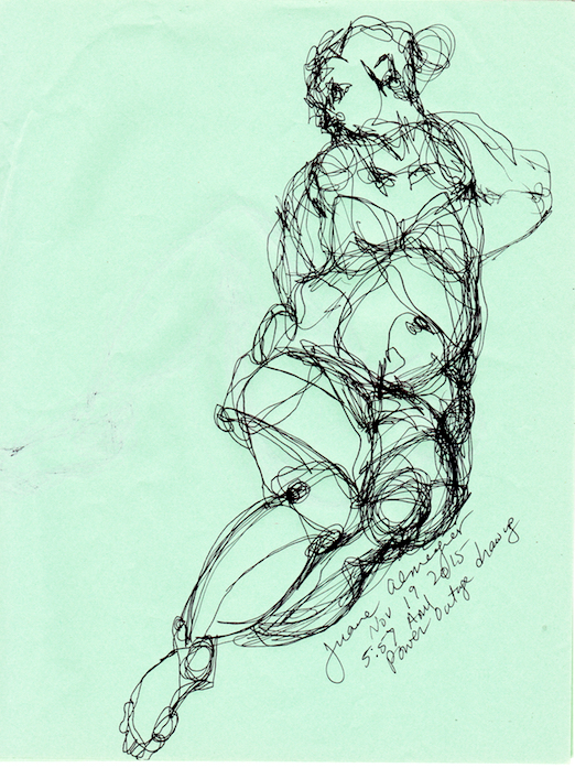 female figure sketch by juana almaguer